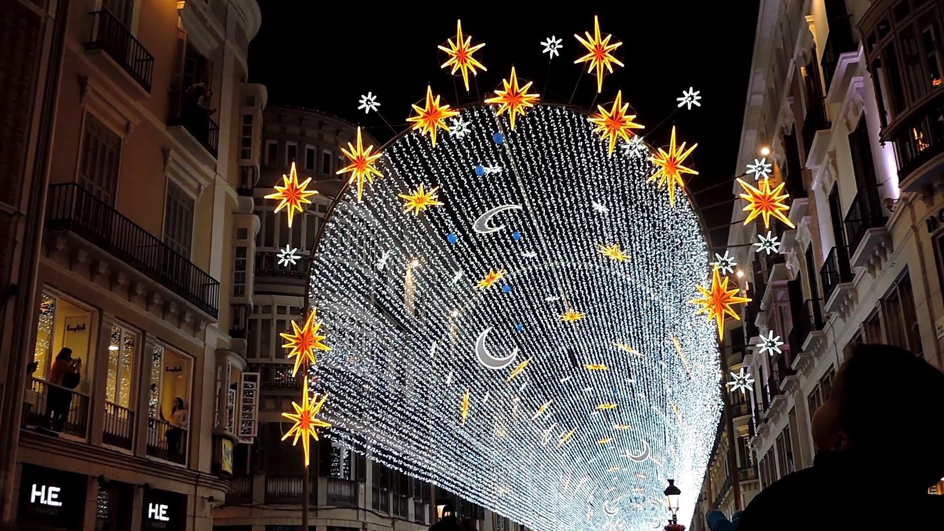alumbrado de Navidad en 2015, Málaga