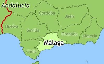 Map Of Andalucia Map - Map of andalusia