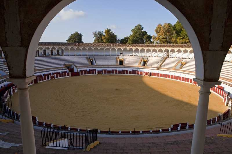 Inside antequera bullring