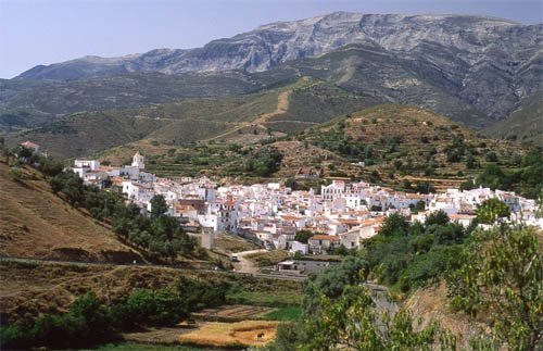 White village in Sierra Tejeda, Almijara and Alhama