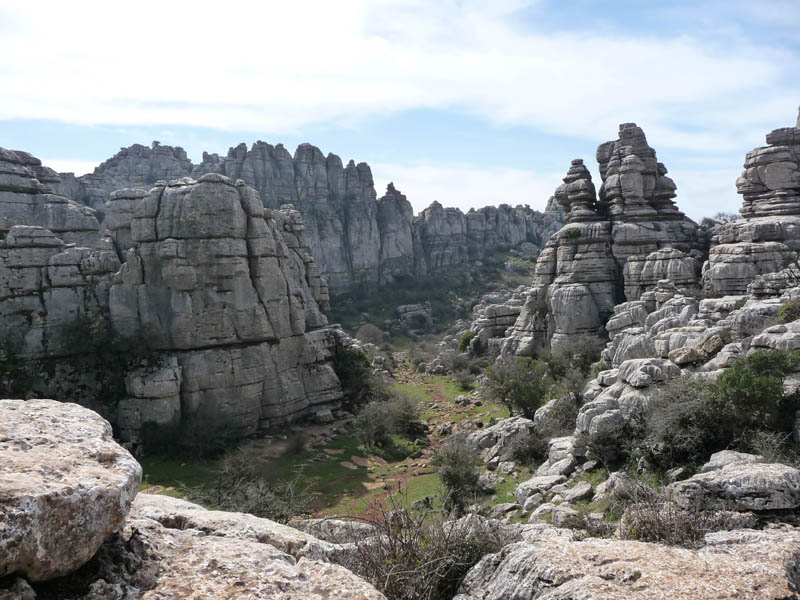 Vista del Torcal de Antequera