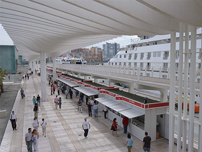 Malaga's book fair takes place in the port area - Photo by Ayto. Malaga