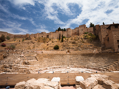 The Alcazaba which is above the Roman Theatre in Malaga - Photo by Víctor Gómez
