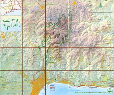 Montes de malaga national park map