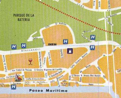 Torremolinos street map 11