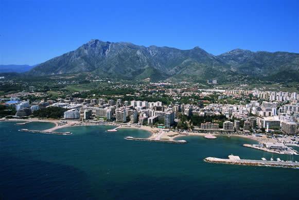 Coastal view of Marbella