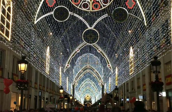 Malaga Christmas lights in 2017
