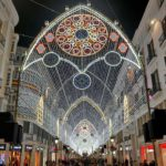 Christmas light show in Malaga